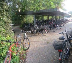 Fahrradstand an der Europaschule