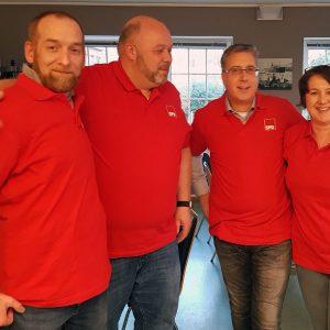 Unsere neuen Funktionsträger (von links): Maik Rothe und Oliver Grotheer (Beisitzer), Wolfgang Gestwa (Stellvertretender Vorsitzender); Carmen Hanke (Kassenprüferin)