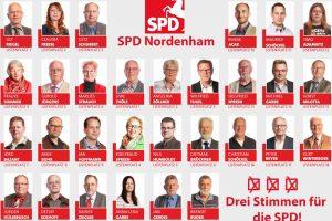 Die Kandidatinnen und Kandidaten für den Stadtrat Nordenham.