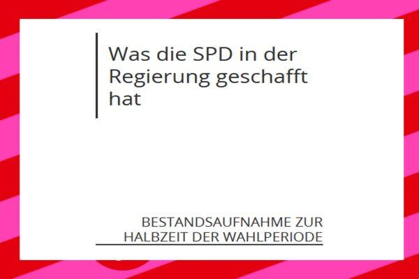 Halbzeitbilanz der SPD in der Groko