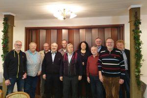 Das Gruppenfoto zeigt die Vertretung des Ortvereins Jade