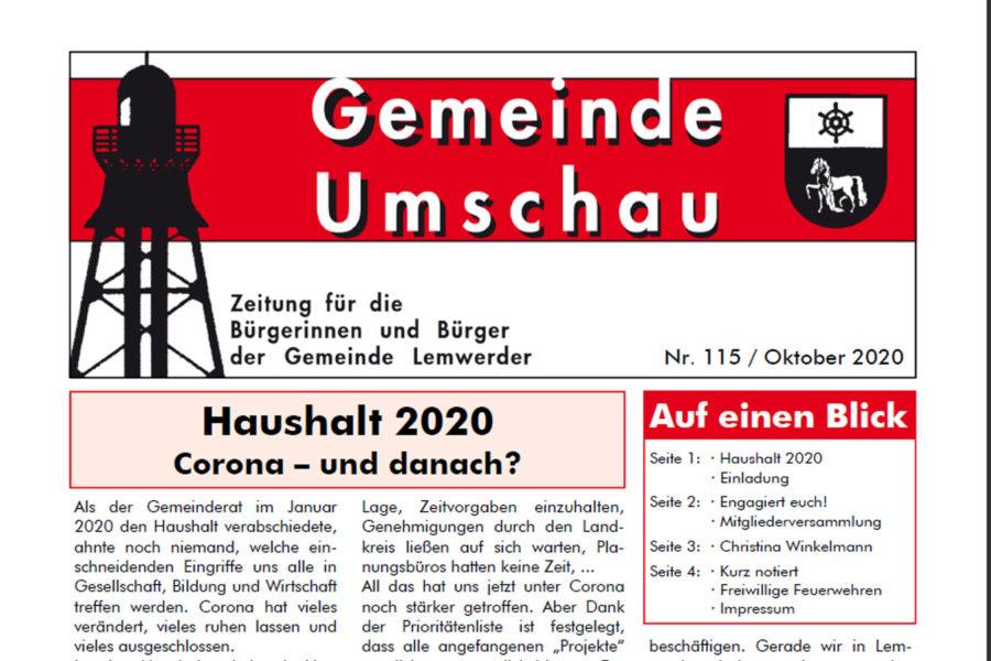 Kopf der GU Oktober 2020