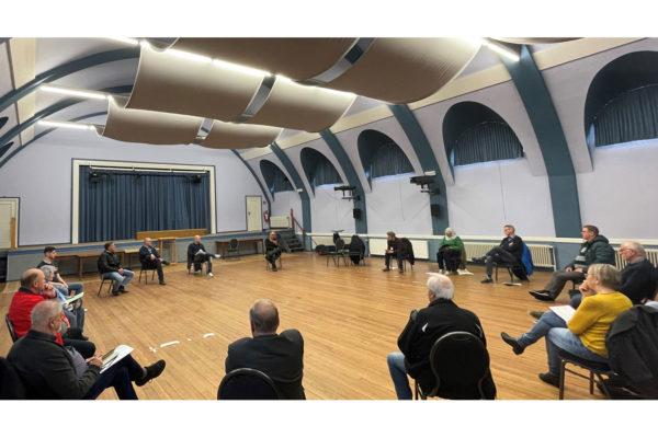 Bild vom Treffen der SPD-Stadtratsfraktion mit dem Betriebsrat